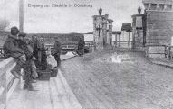 Вход в Динабургскую крепость в период германской оккупации.