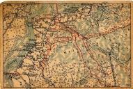 Ložmetējkalna apkārtnes karte, skatu karte tūristiem 30.gados.