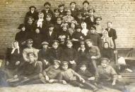 Brīvprātīgie latviešu strēlnieki (tikko pieteikušies) 1915
