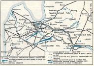 Карта военных действий в Курземе 1915.