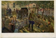 """""""Eseru sacelšanās likvidēšana Maskavā 1918. gada 7. jūlijā."""" -  mākslinieks Voldemārs Andersons (1928. gads)."""