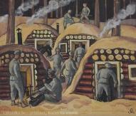"""Jāzeps Grosvalds (1891-1920). """"Latviešu strēlnieku"""" sērijas darbs."""