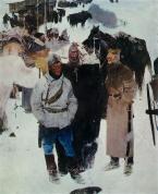 "Евсей Евсеевич Моисеенко (р. 1916) ""Товарищи"", 1964."