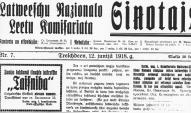 """""""Ciņotajs"""", 1918"""