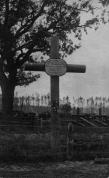 """Ložmetējkalna apkārtnē, Silenieku kapi ar uzrakstu """"Maigu dusu"""""""