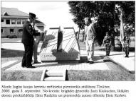 """Mazās Juglas kaujas piemineklis """"Varoņu altāris"""". Tinuži 2005"""