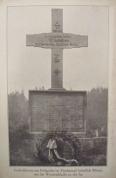 Vācu kapi Tīreļpurvā, piemiņas krusts.