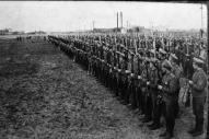 Latviešu strēlnieki Daugavgrīvā. 1916.g.