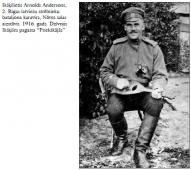 Latviešu strēlnieks. Andersons 1916.