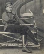 Latviešu strēlnieks. Smiltene. O.Cinka izgatavota fotogrāfija 1917.gada martā.
