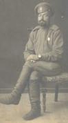 Latviešu strēlnieks. Smiltenes fotogrāfa O.Cinks fotogrāfija kādam latviešu strēlniekam 1916.gadā