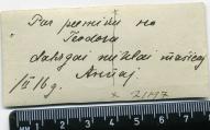 Par pieminu no Teodora... 02/1916
