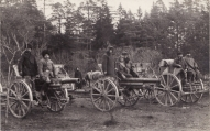 14.11.1919.gads, pie Lieliecavas 4.Valmieras kājnieku pulka atņemtie bermontiešu lielgabali