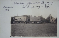 Inčukalns. I pasaules kara laika foto, kad staciju vēl sauca par Hincenbergu, uzraksts vēstī ka 1917.gada septembrī te atradies japāņu bruņuvilciens, Tas varētu būt uzņemts pēc tam, kad vācieši ieņēma Rīgu