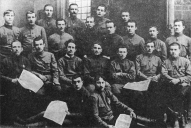 Сотрудники редакции газеты «Бривайс стрелниекс» в конце 1917 года в Валке