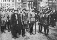 Латышские стрелки перед первомайской демонстрацией в Москве в 1918 году