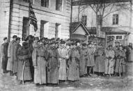 Отряд латышских кавалеристов в Арзамасе в 1918 году