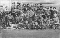 7-я рота 4-го стрелкового полка Советской Латвии у Стренчи , март 1919 г.
