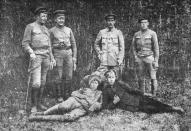 Группа командиров и комиссаров 8-го латышского стрелкового полка на Южном фронте в октябре 1919 года.