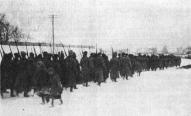 2-й латышский стрелковый полк на переходе. Январь 1920 года