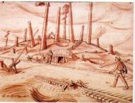 К. Балтгайлис. Эпизод военных будней. 1918