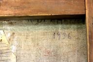 """Картина красного латышского стрелка. К.Я. Вейдеман, 1936, холст, масло, подпись, название не известно. г. Королёв, антикварный магазин """"Болшевец"""""""