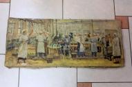 """Картина красного латышского стрелка. Андерсон В.П. """"Разливной цех пивоваренный завод им.Бадаева"""", написана 27 марта 1936 года, масло. г. Королёв, антикварный магазин """"Болшевец"""""""
