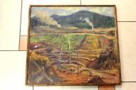 """Картина красного латышского стрелка. К.Я. Вейдеман, 1936, холст, масло, название не известно. г. Королёв, антикварный магазин """"Болшевец"""""""