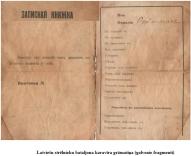 Latviesu strelnieku bataljona karavira gramatina (galvenie fragmenti)