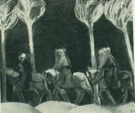 И. Заринь. Легенда. 1969. Холст, масло. Рига. Отдел выставок Художественного фонда Латвийской ССР.
