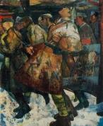 И. Заринь. Метель. 1968. Холст, масло. Рига. Государственный художественный музей Латвийской ССР.