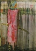 И. Заринь. Стрелковый цикл, I. «Проливные дожди». 1971. Бумага, акварель. Министерство культуры Латвийской ССР.
