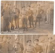 Прапорщики, недавно выпущенные. Знаки Чугуевского ВУ, Латышского батальона, Школы прапорщиков. (источник указан на фото)