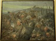 """A.Apsitis """"Kauja Ložmetējkalnā"""".1930g. Latvijas Kara Muzejs."""